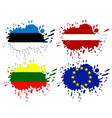 Flags of Baltic as spots vector image vector image