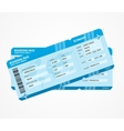 Modern Airline boarding pass tickets vector image