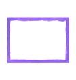 Lilac grunge frame vector image