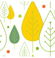 autumn seamless pattern abstract colorful leaves vector image