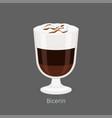 bicerin traditional italian hot drink cartoon icon vector image