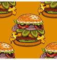 cartoon style hamburgers vector image