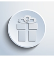 gift web icon vector image
