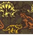 Jurassic dinosaur Seamless pattern vector image