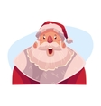 Santa Claus face surprised facial expression vector image