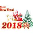 santa claus under the tree vector image