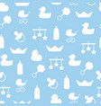 seamless pattern of baby color icons and vector image