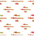seamless pattern Thanksgiving Day flat vector image