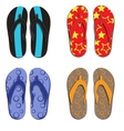 Set flip flops isolated on white background vector image