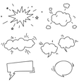 Set of hand drawn comic speech bubbles elements vector image