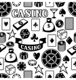 Casino gambling seamless pattern with game objects vector image