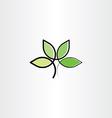 bio plant herb health eco logo icon vector image