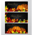 three autumn banners vector image