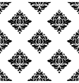 Abstract white and black seamless pattern vector image