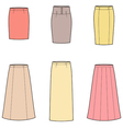 Business skirt vector image vector image