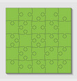 25 green puzzle pieces - jigsaw - vector image