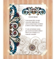 Doodle paisley poster for your business vector image