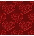 flourish heart red seamless pattern vector image