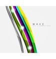 Wavy glossy futuristic swirl vector image vector image