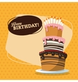Happy Birthday design Retro vector image