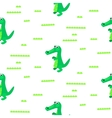 Crocodile green and white seamless pattern vector image
