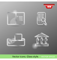 Glass icons vol2 vector image