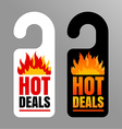 Hot price labels vector image