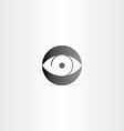 human eye circle icon vector image