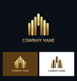 line gold building business logo vector image