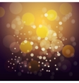 Orange fire bokeh background vector image