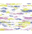 Pattern of colorful paint brush strokes vector image