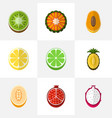 set of 9 editable dessert flat icons includes vector image