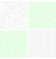Set of monochrome seamless floral patterns vector image