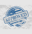 stamp with us flag vector image