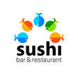 sushi bar restaurant vector image