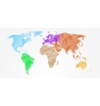 Abstract colorful world map vector image