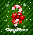 Christmas candy cane decorated vector image