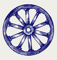 Wooden wheel vector image vector image