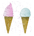 Soft serve ice vector image vector image