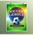 soccer league presentation flyer vector image