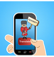 Smart phone translate app concept vector image