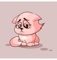 Nice cat sad vector image