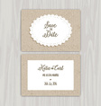 save the date vintage invites 0502 vector image
