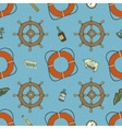 Blue Marine Seamless Pattern vector image