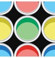 colorful paint cans vector image