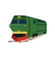 green cargo railway train locomotive vector image