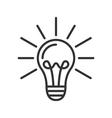 Light lamp icon vector image