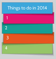 New Year Resolution List template vector image