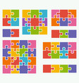 parts of puzzles on white background vector image