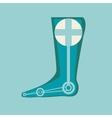 Prosthetic leg vector image